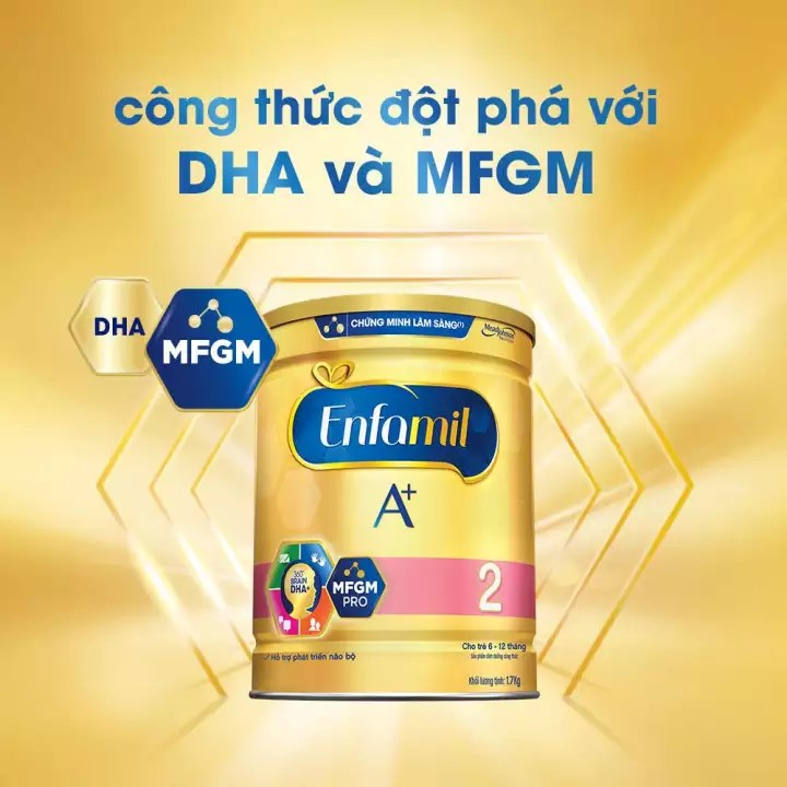 So sánh sữa bột Morinaga và Enfamil A+