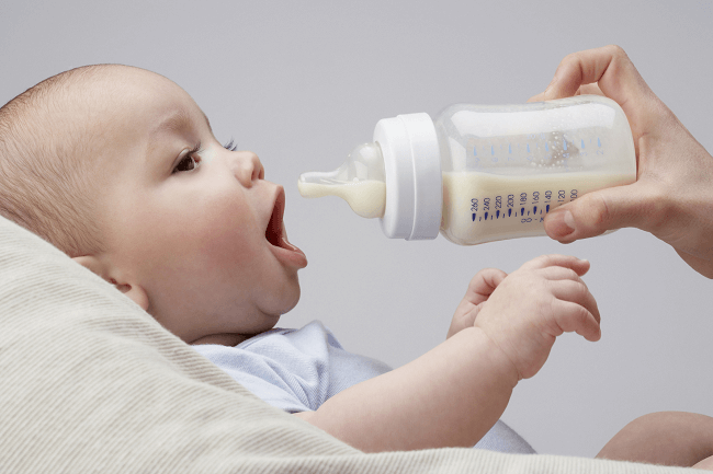 sữa mát cho bé