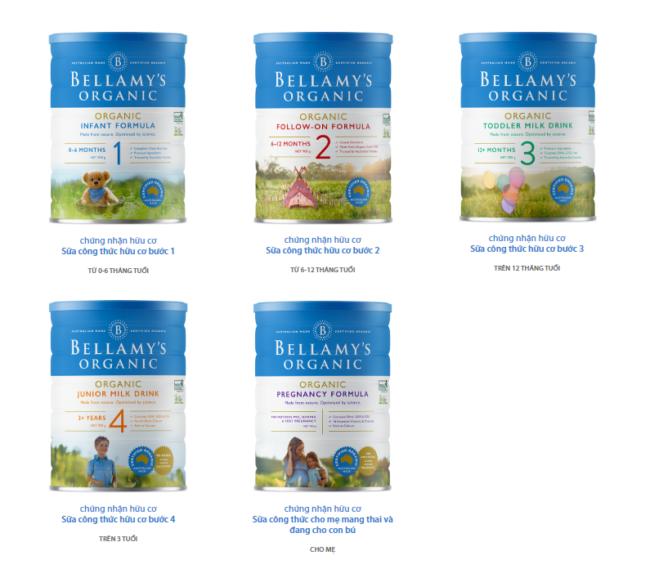 sữa Bellamy's Organic có tốt không