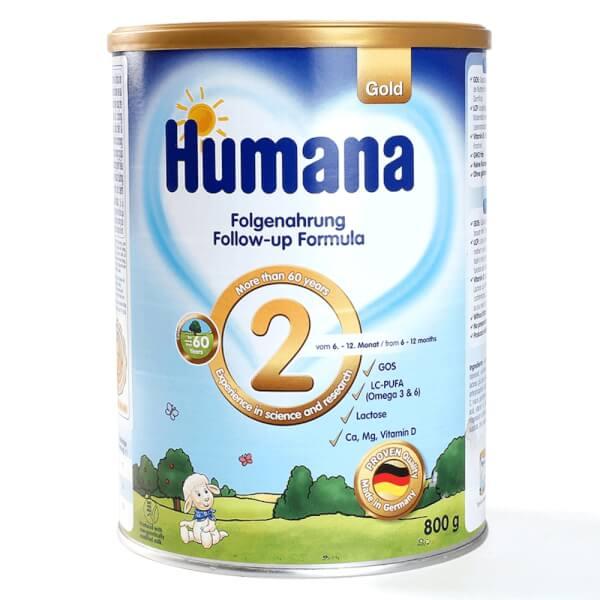 Sữa humana số 2 review