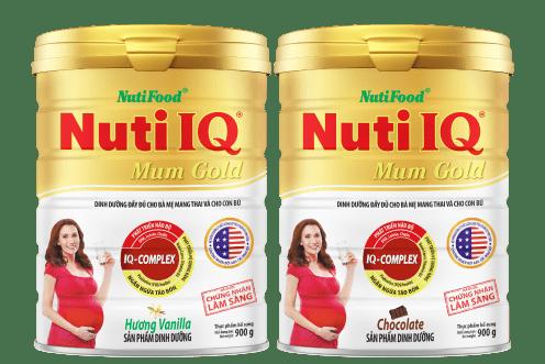 sữa nuti iq gold giúp mẹ và bé phát triển khỏe mạnh